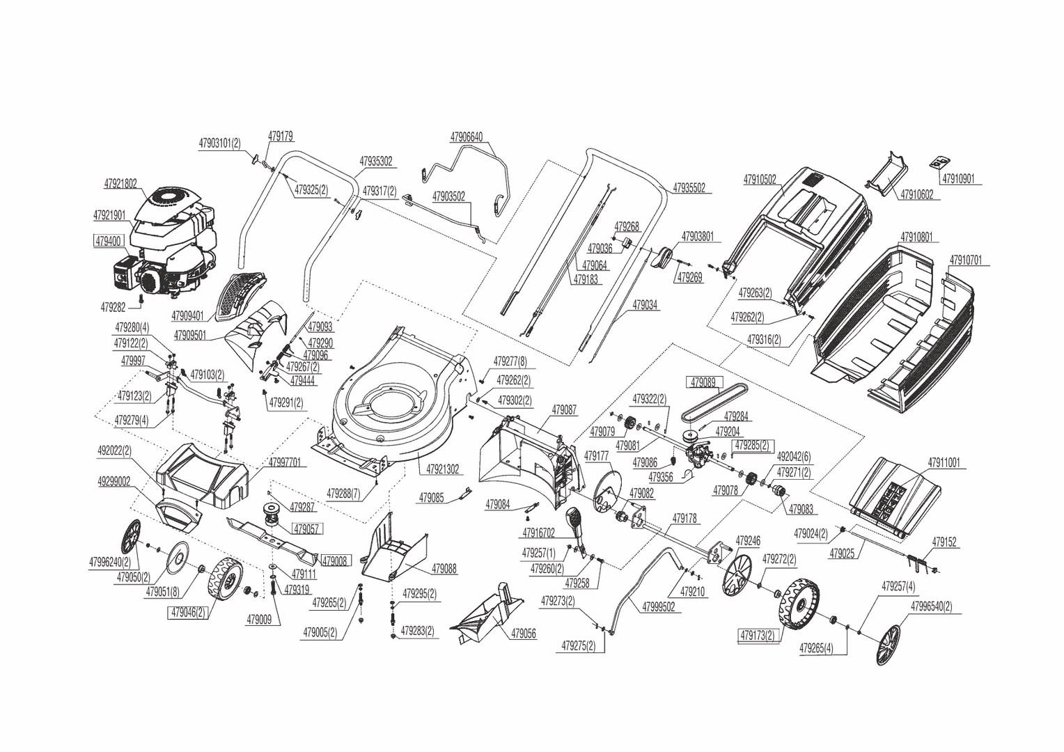 ersatzteile und zeichnung von al ko f r benzinrasenm her sp s. Black Bedroom Furniture Sets. Home Design Ideas