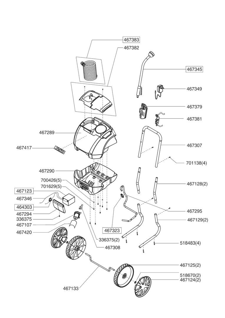 ersatzteile und zeichnung von al ko f r gie wagen aquatrolley a 300. Black Bedroom Furniture Sets. Home Design Ideas