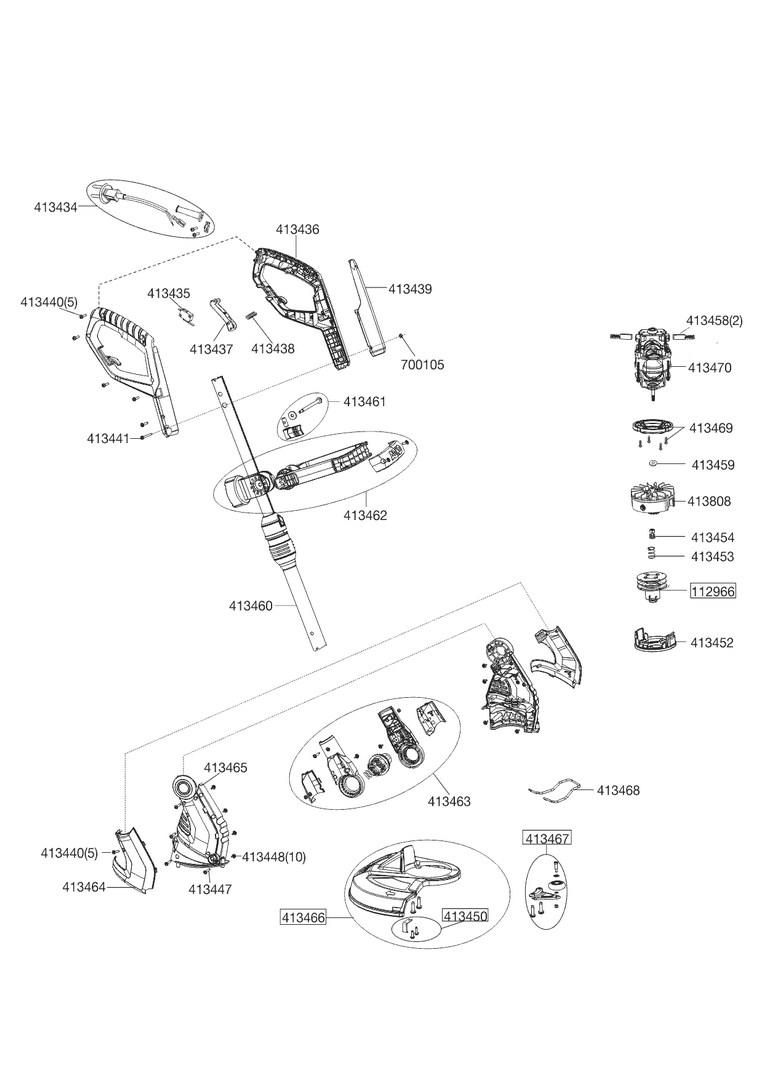 ersatzteile und zeichnung von al ko f r rasentrimmer gte 550 premium. Black Bedroom Furniture Sets. Home Design Ideas