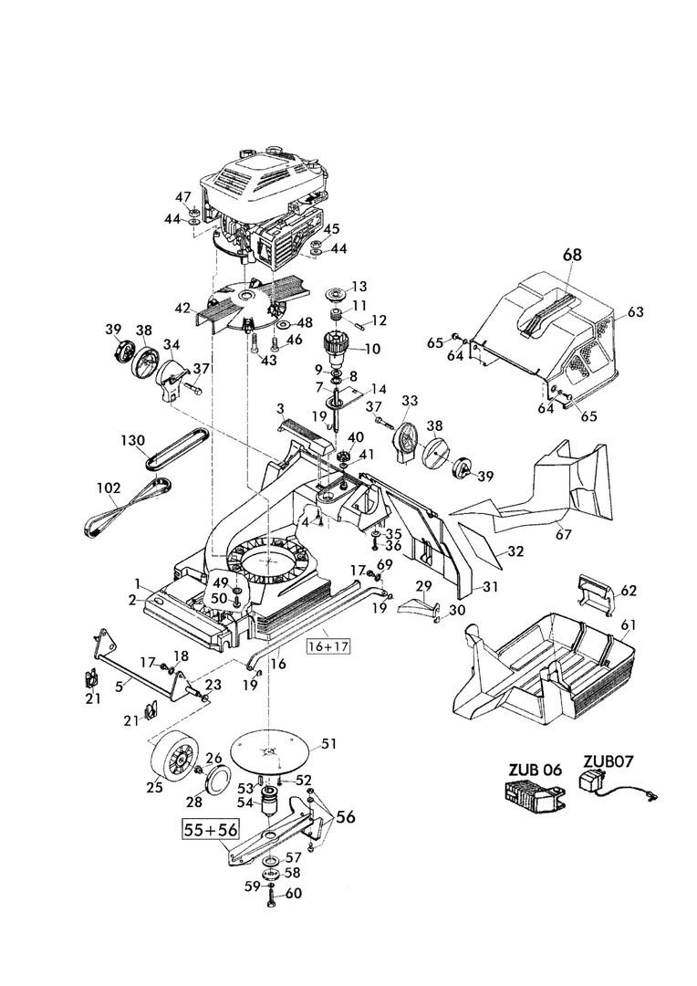 ersatzteile und zeichnung von brill f r benzinrasenm her. Black Bedroom Furniture Sets. Home Design Ideas
