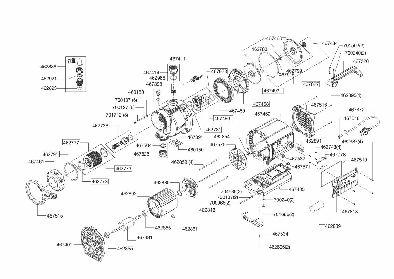 al ko ersatzteil motorlagerschild f r oberfl chenpumpen jet 4000 comfort aus der ersatzteil. Black Bedroom Furniture Sets. Home Design Ideas