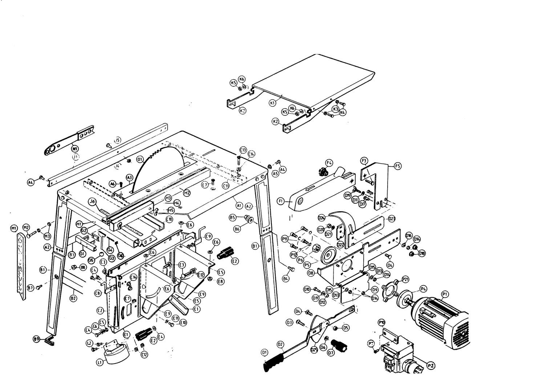 ersatzteile und zeichnung von al ko f r tischkreiss gen nhs 4 5 38. Black Bedroom Furniture Sets. Home Design Ideas