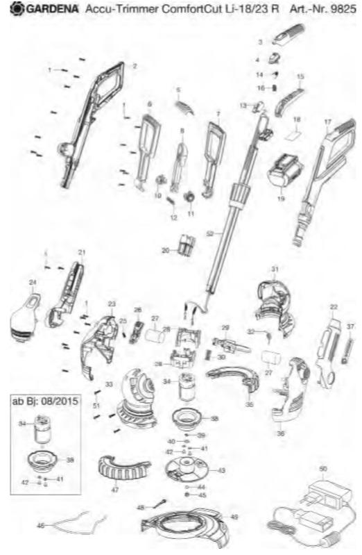 Kunststoffmesser Ersatzmesser für Gardena 9823 9825 Rasentrimmer AKKU S-g **