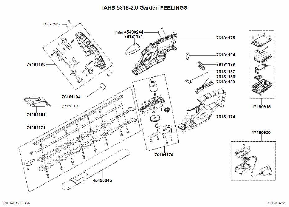 ersatzteile und zeichnung von ikra akku hs iahs 5318 2 0. Black Bedroom Furniture Sets. Home Design Ideas