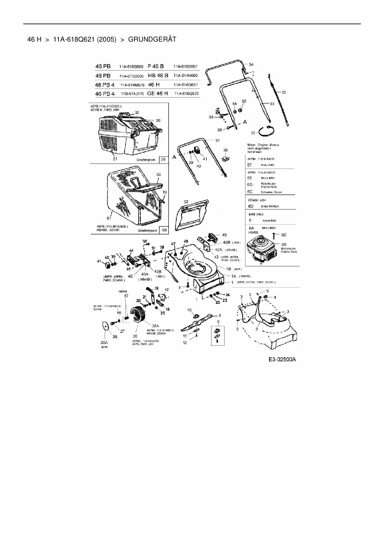 ersatzteile von hanseatic motorm her 46 h aus der. Black Bedroom Furniture Sets. Home Design Ideas