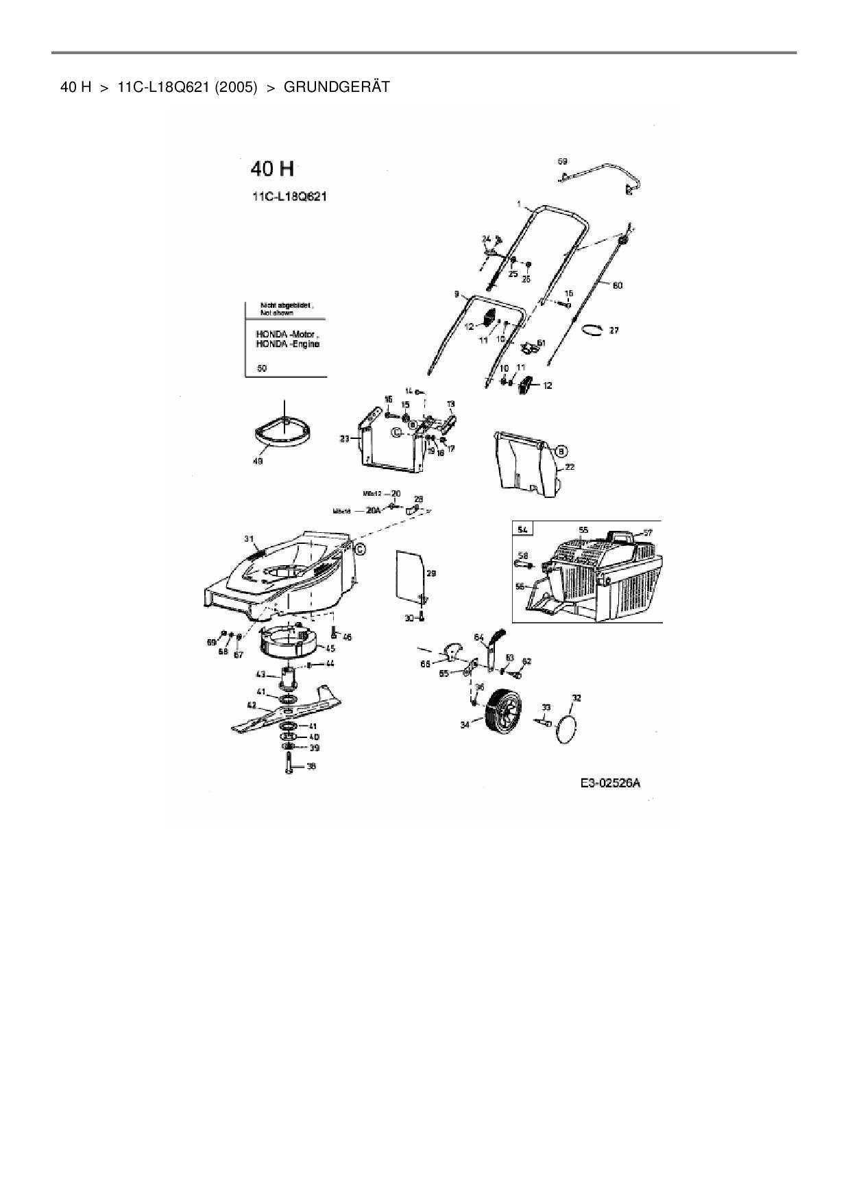 ersatzteile von hanseatic motorm her 40 h aus der. Black Bedroom Furniture Sets. Home Design Ideas