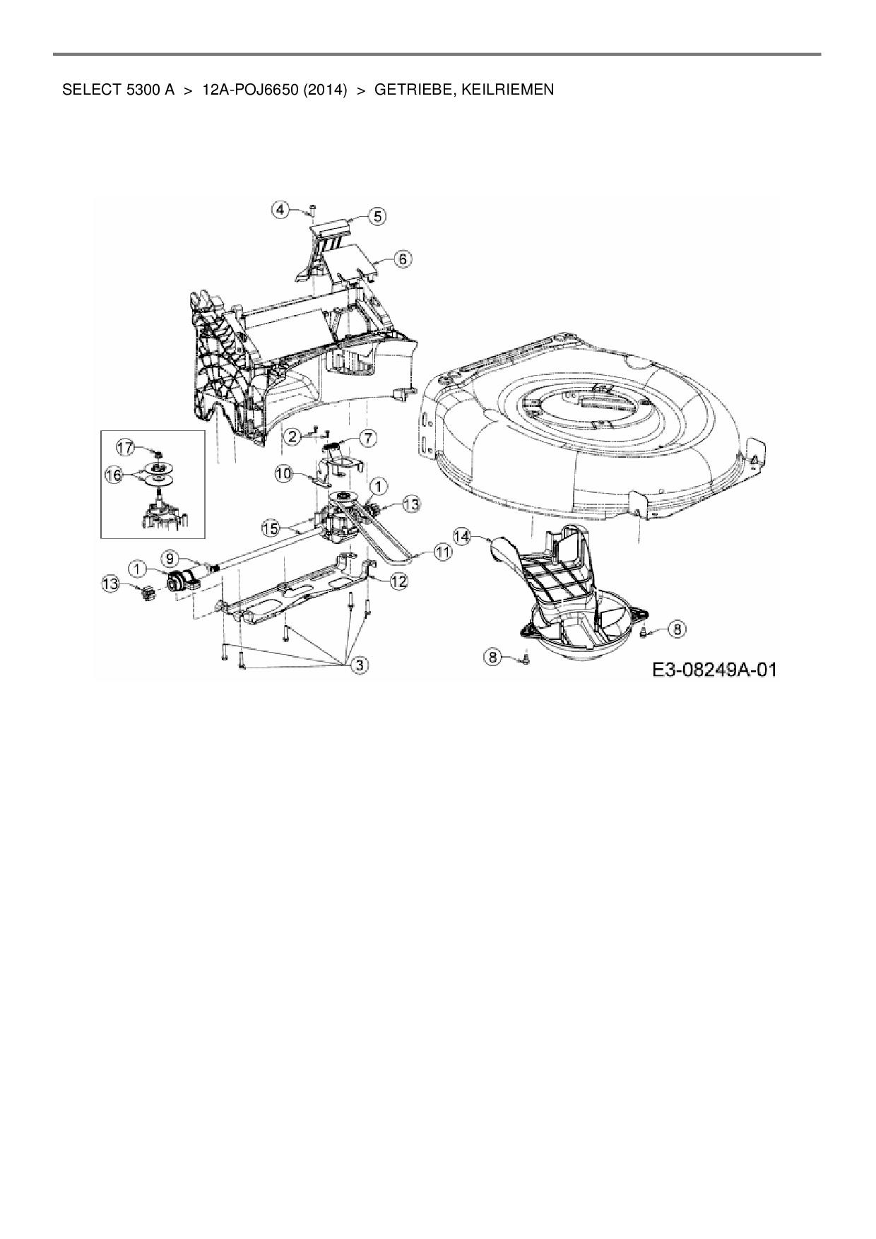 ersatzteile von wolf garten motorm her mit antrieb select 5300 a aus. Black Bedroom Furniture Sets. Home Design Ideas