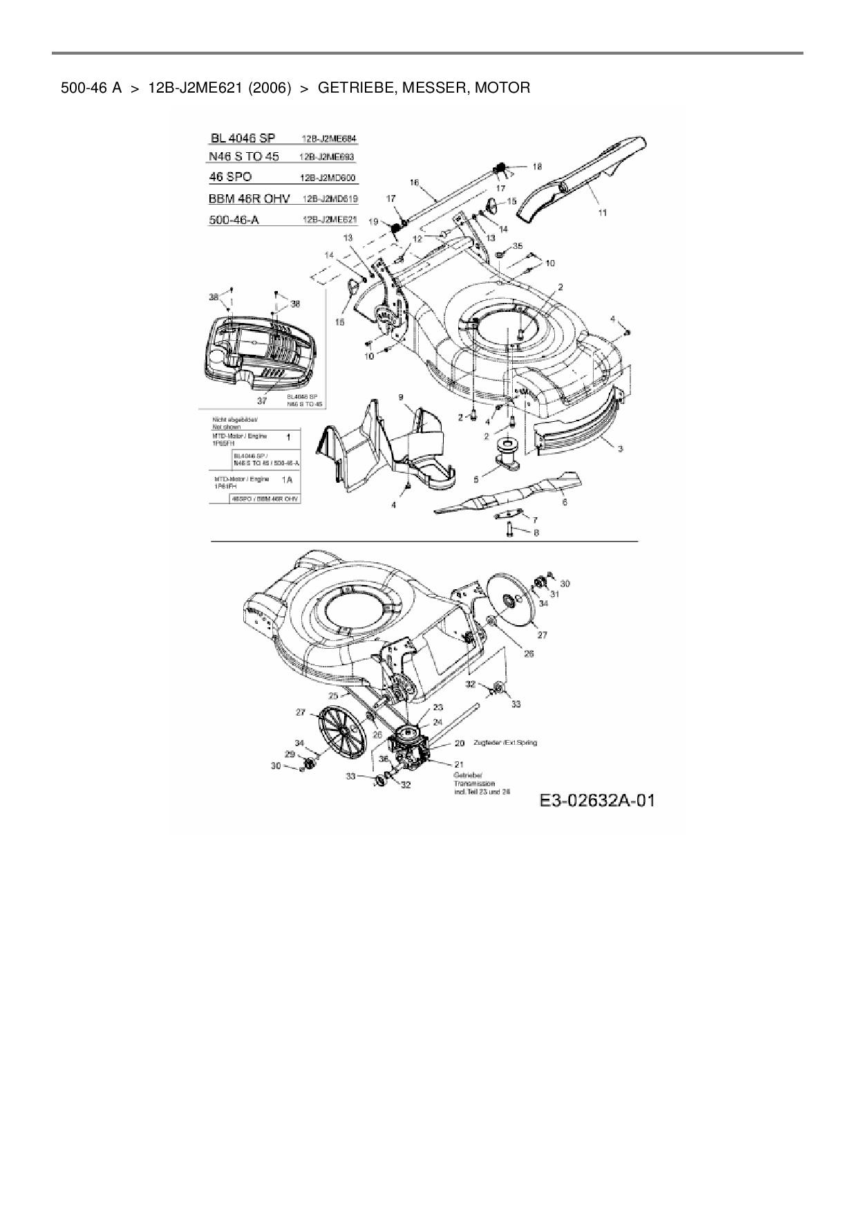 ersatzteile von hanseatic motorm her mit antrieb 500 46 a. Black Bedroom Furniture Sets. Home Design Ideas