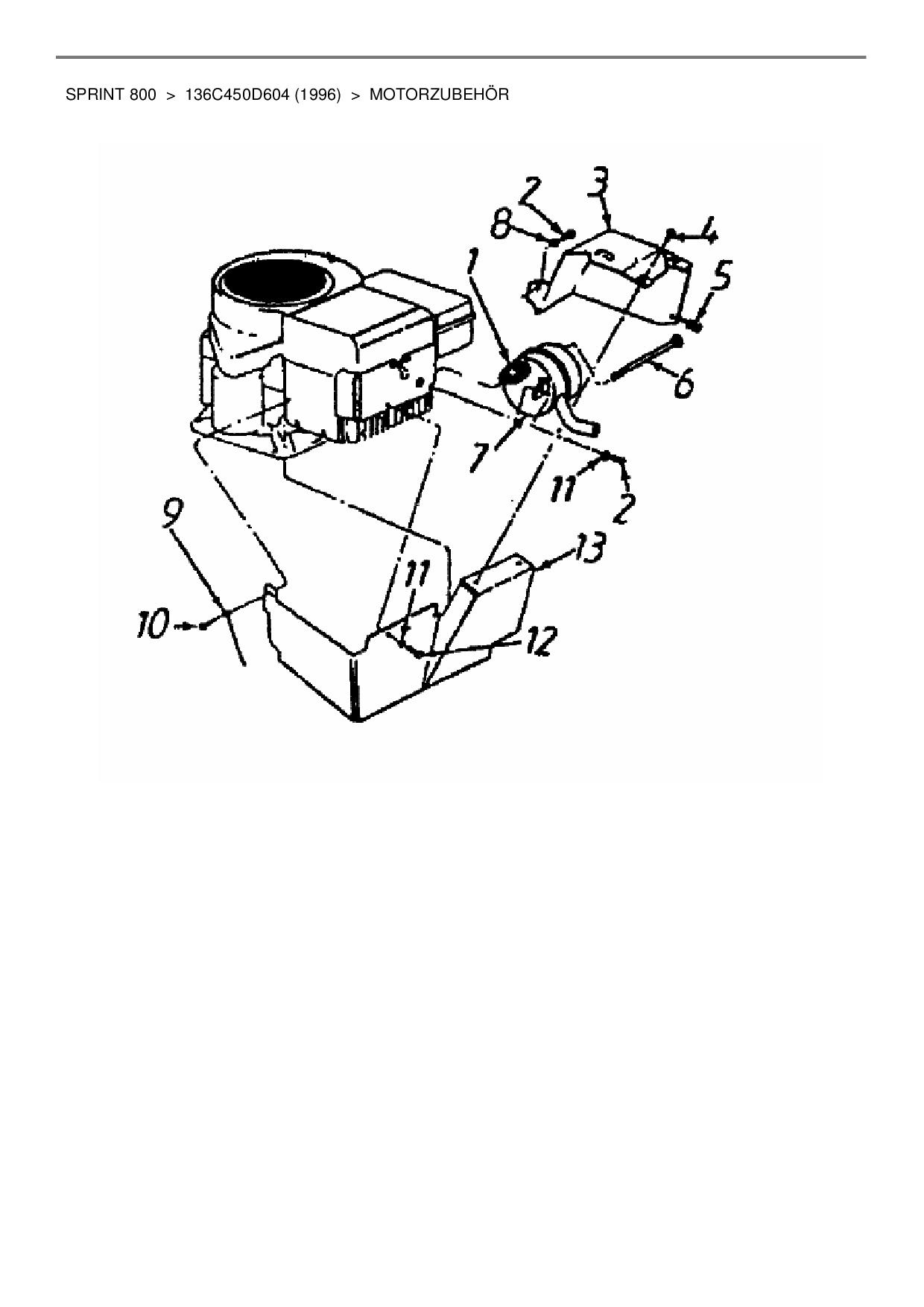 Ersatzteile von Gutbrod Rasentraktor Sprint 800 aus der Zeichnung Mot