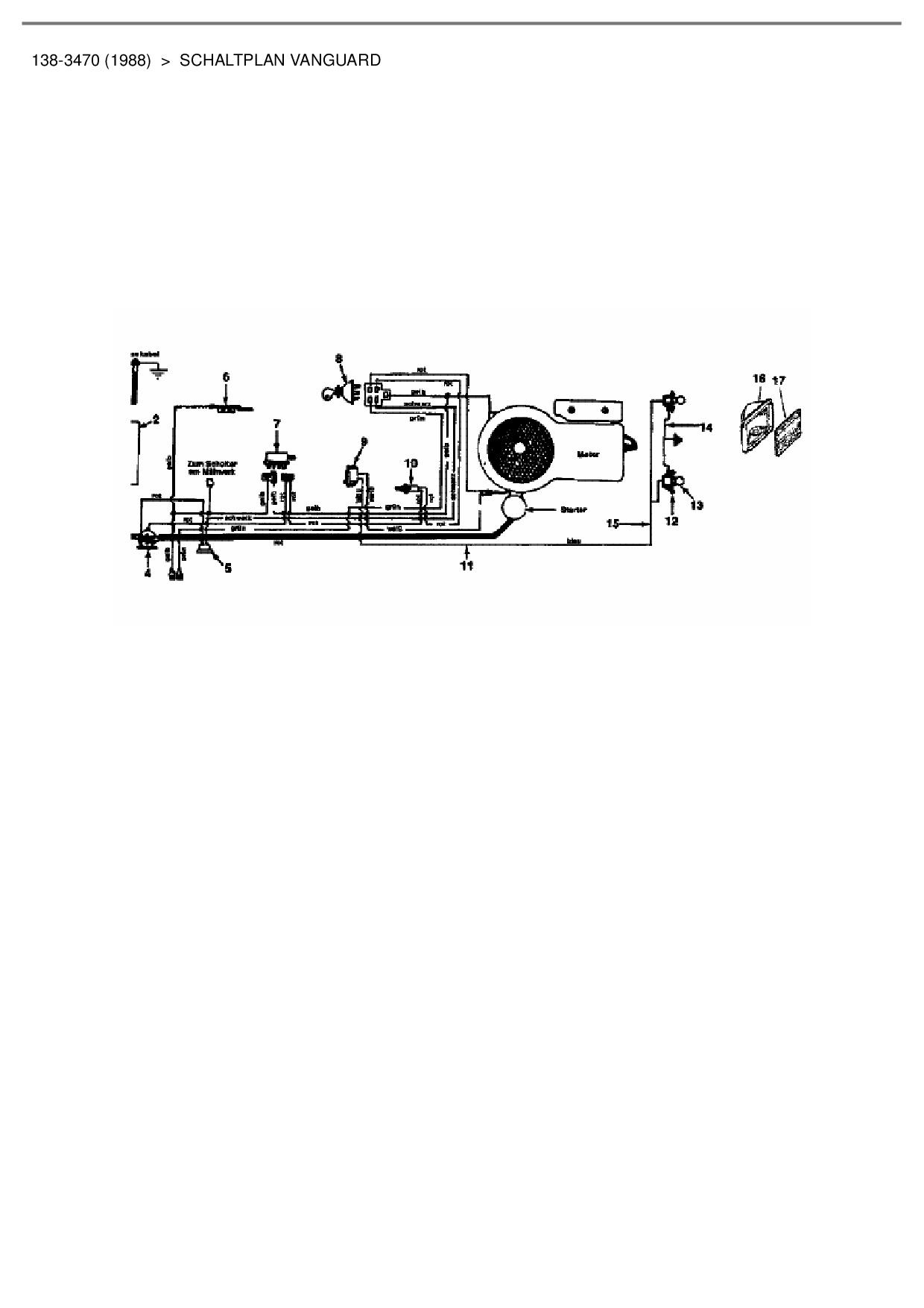 Ersatzteile von Columbia Rasentraktor 111/810 aus der Zeichnung Schal