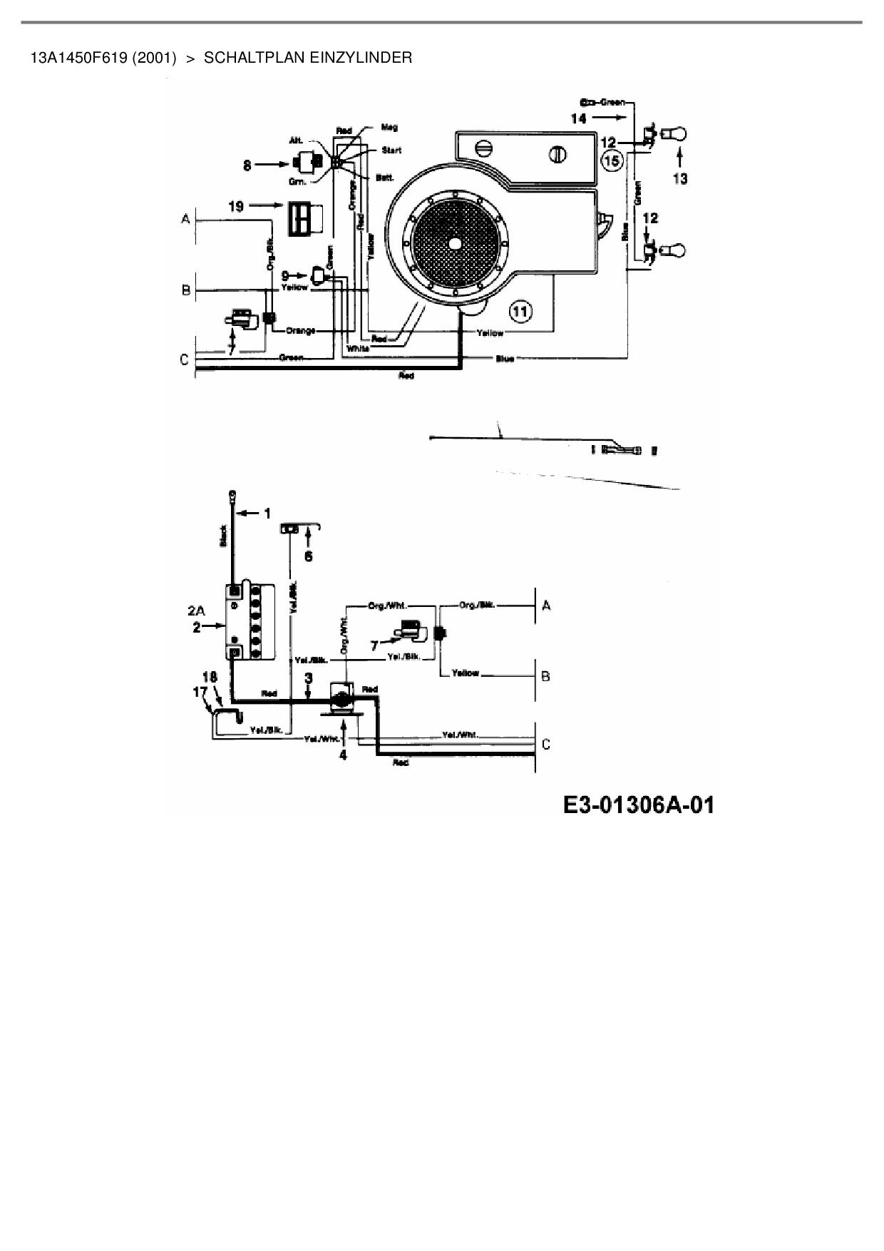 Ersatzteile von Budget Rasentraktor BTR 1101 aus der Zeichnung Schalt