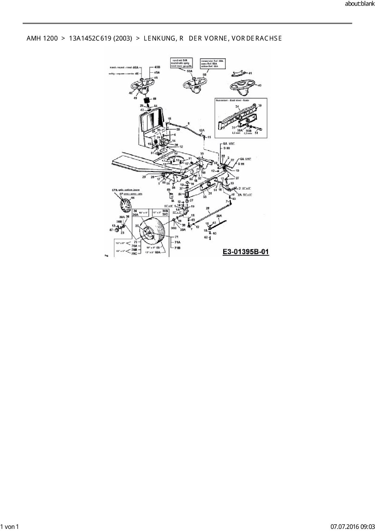 Zündschloss 6-Pol passend Fleurelle AMH 1200 13D1452C619 Rasentraktor