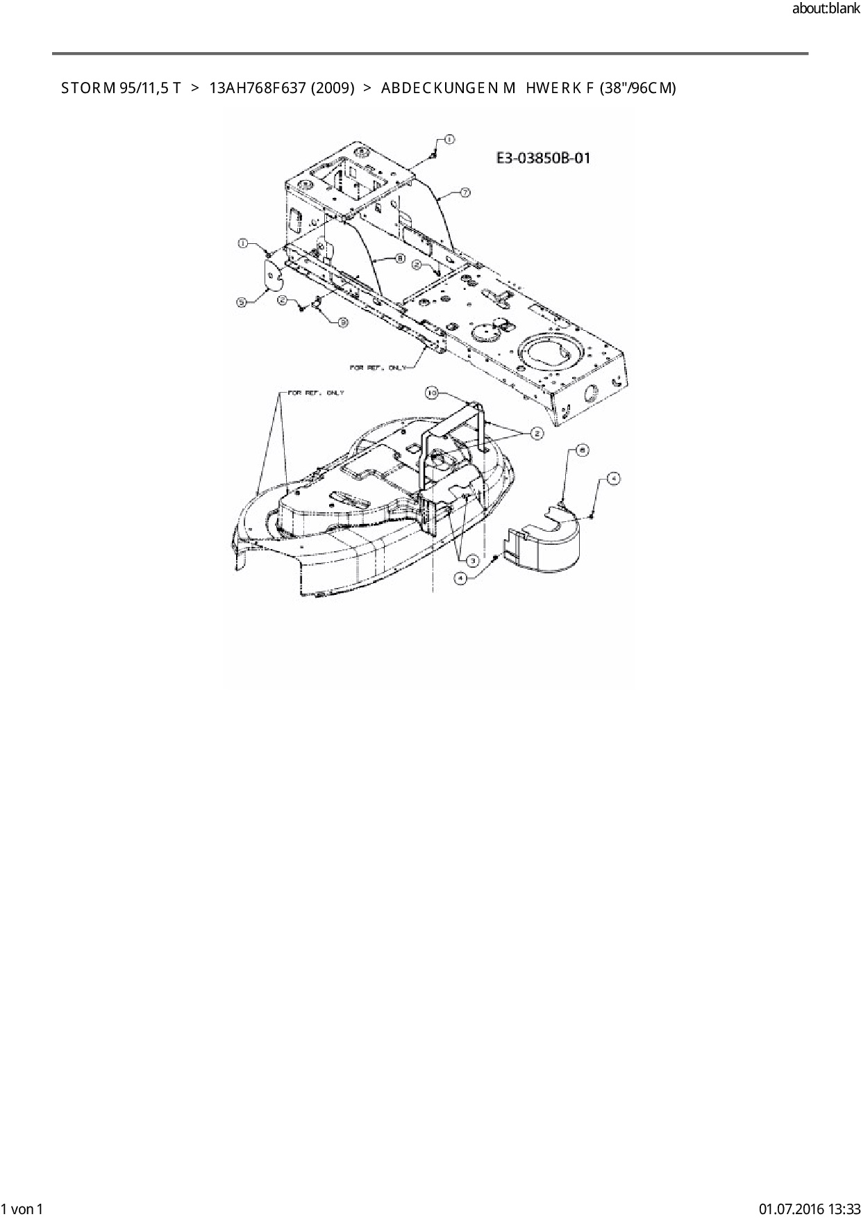 Ersatzteile von EFCO Rasentraktor Storm 95/11,5 T aus der