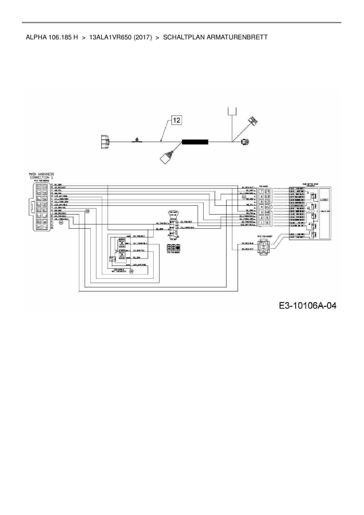 Erfreut Mtd Kabelbaum Diagramm Bilder - Schaltplan Serie Circuit ...