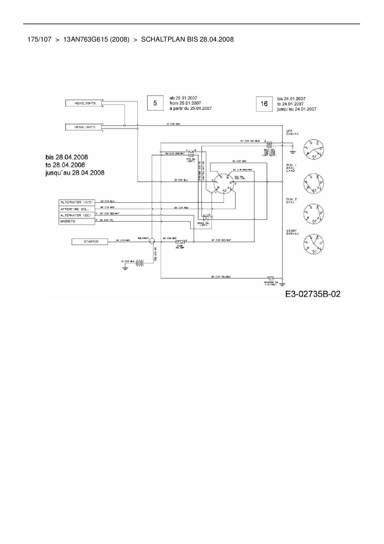 Wunderbar Rasentraktoren Schaltplan Für Electrolux Galerie ...