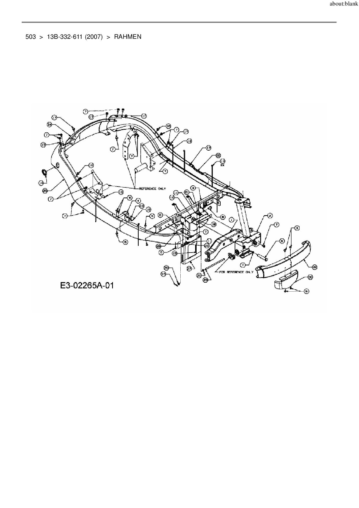 Ersatzteile von Lawnflite Rasentraktor 503 aus der Zeichnung Rahmen