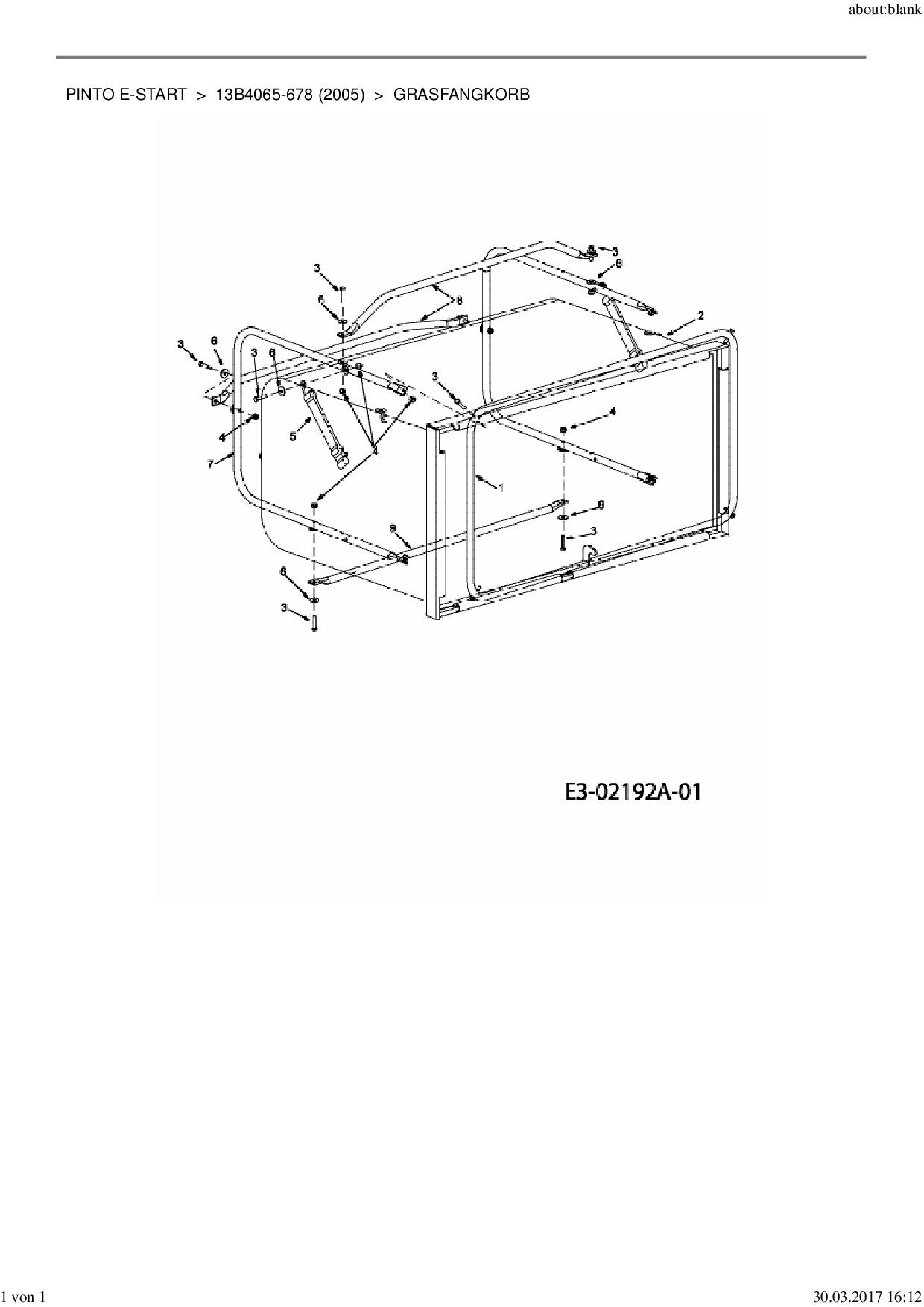 Haltegurt passend MTD Pinto E-Start 13B4065-678 Rasentraktor