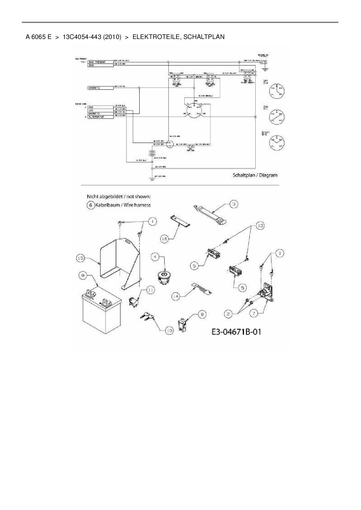 Berühmt Handwerker Rasentraktor Schaltplan Ideen - Elektrische ...