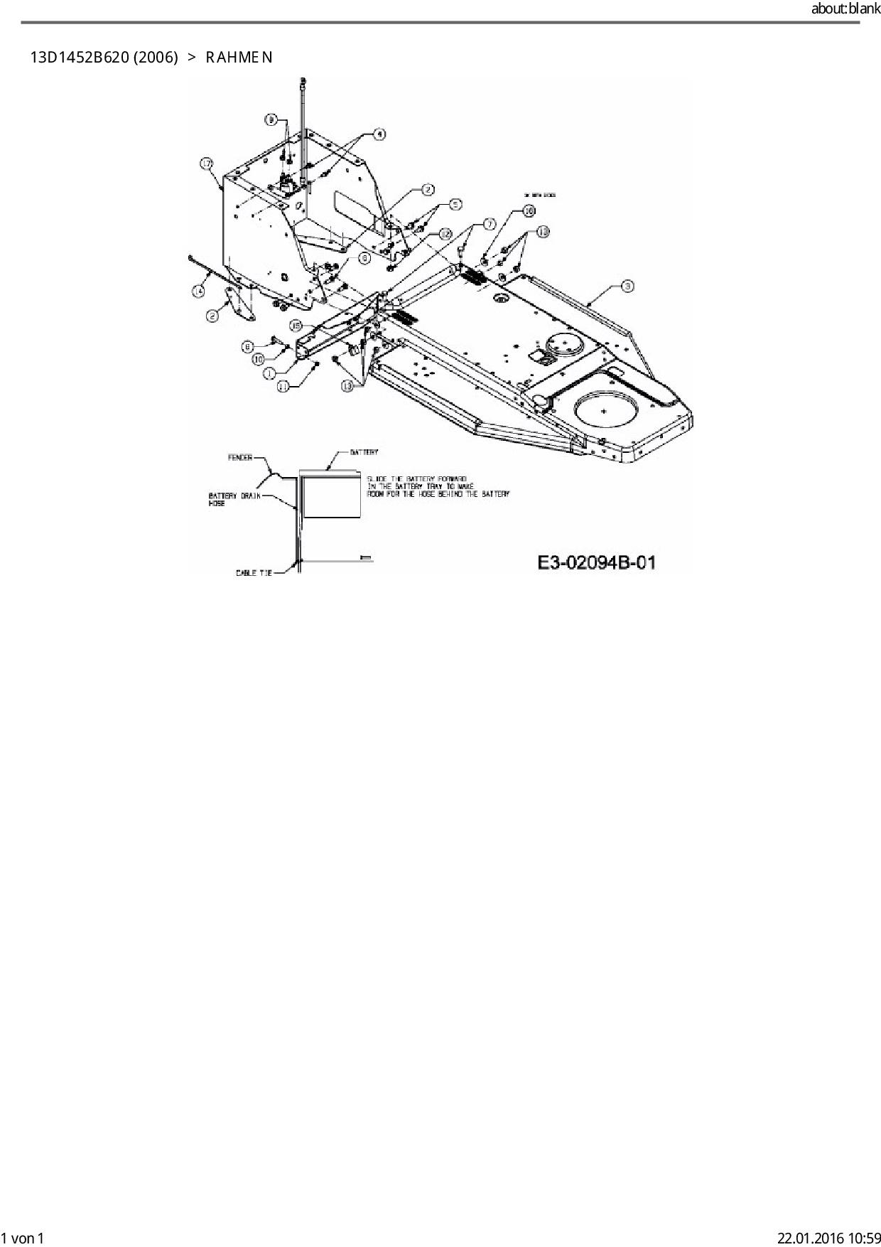 Ersatzteile von CMI Rasentraktor 91-12 aus der Zeichnung Rahmen