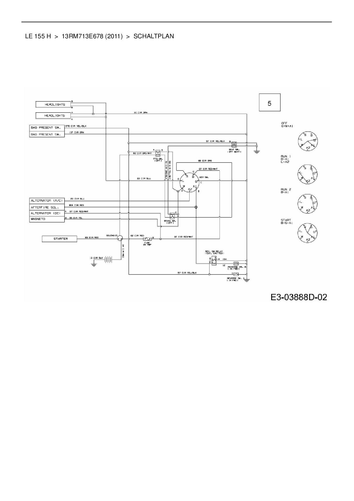 Ziemlich Schaltplan Des Motorschlüsselschalters Fotos - Elektrische ...