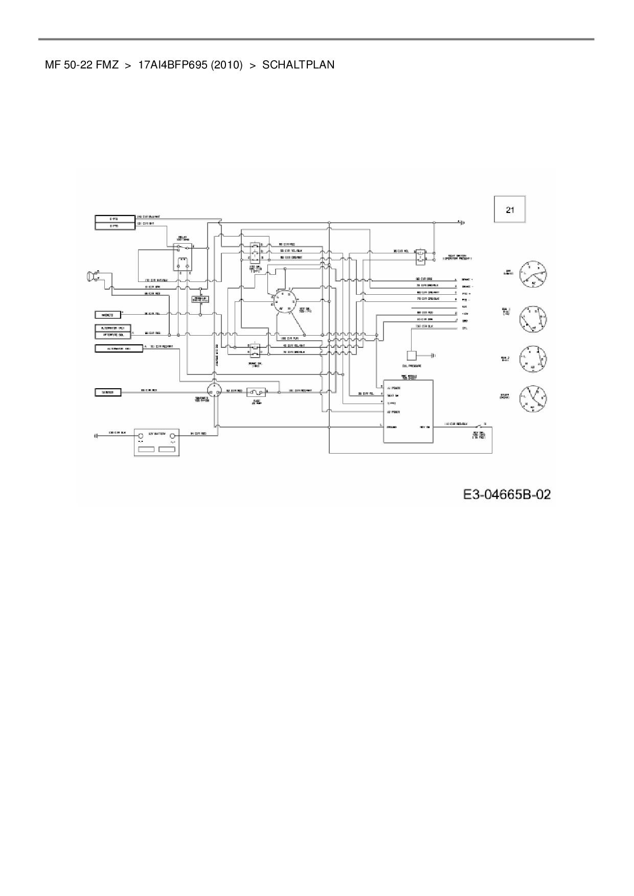 Ziemlich Massey Ferguson 230 Schaltplan Zeitgenössisch - Elektrische ...