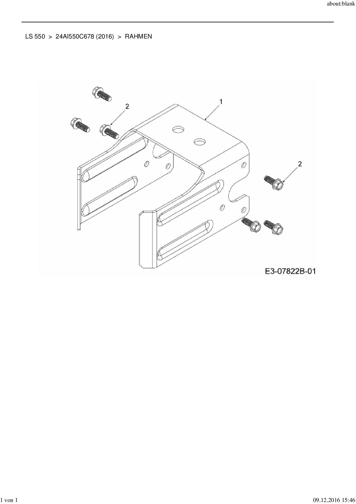 Ersatzteile von MTD Holzspalter LS 550 aus der Zeichnung Rahmen