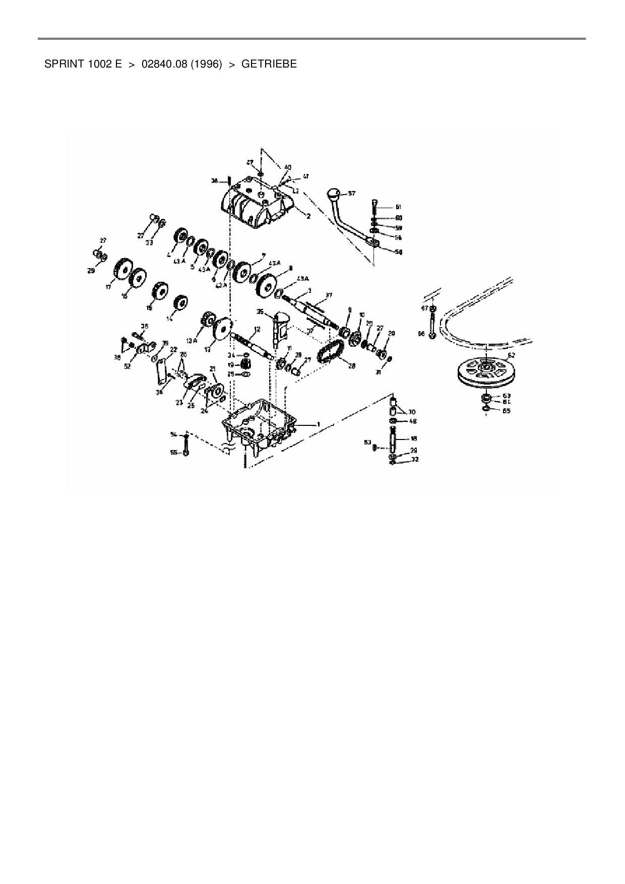 Ersatzteile von Gutbrod Rasentraktor Sprint 1002 E aus der Zeichnung