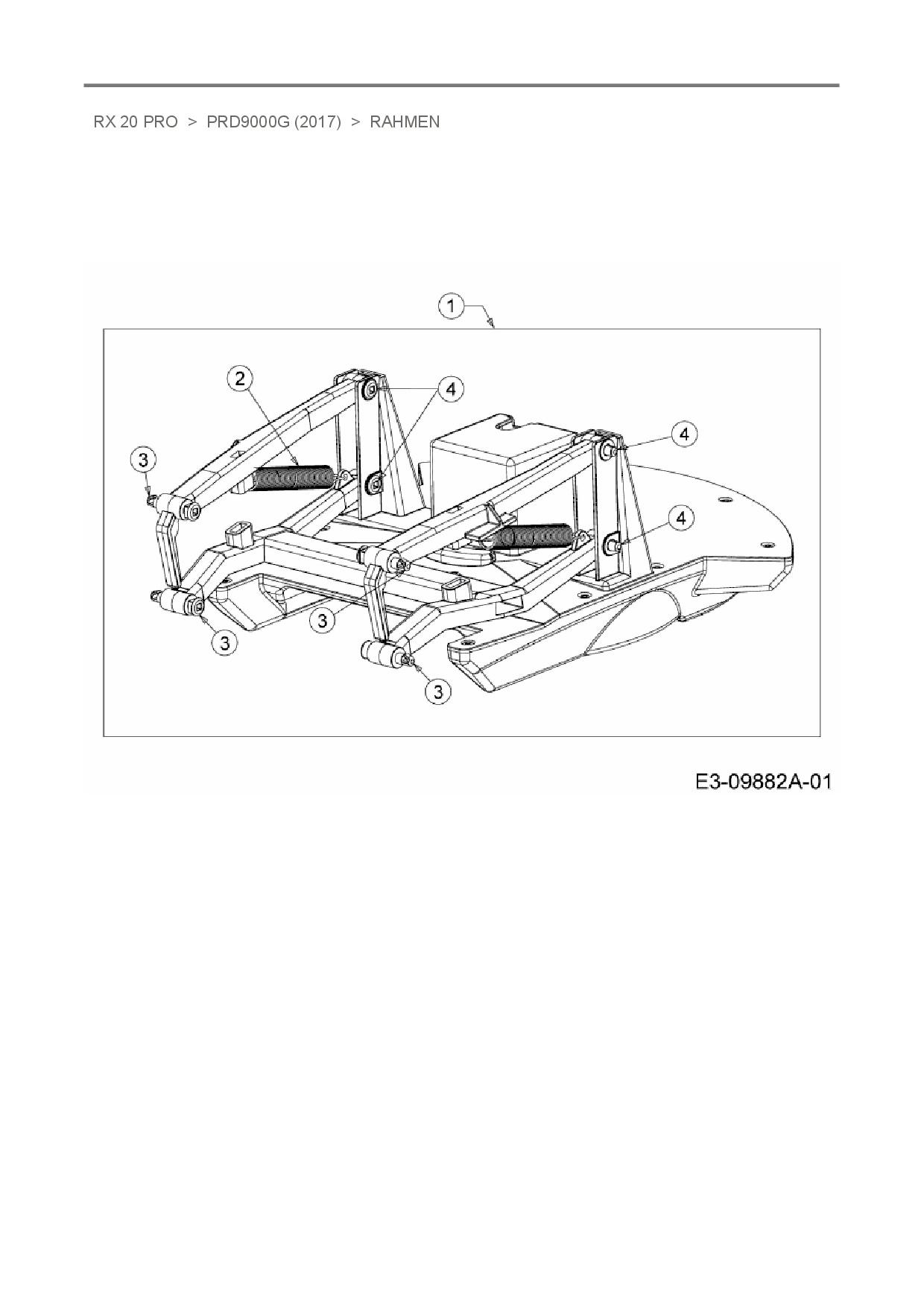 Ersatzteile von Robomow Mähroboter RX 20 PRO aus der Zeichnung Rahmen